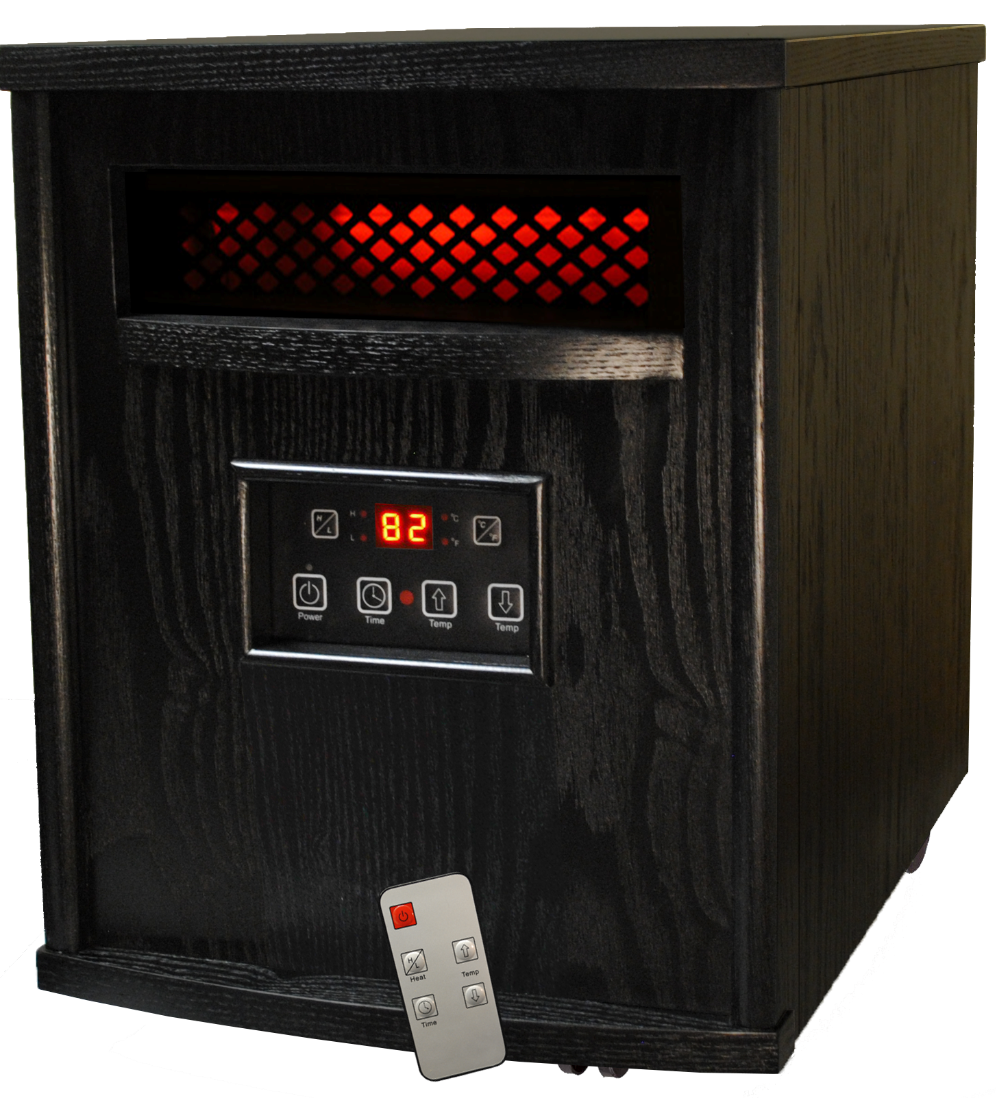 Thermal Wave by SUNHEAT TW1500 3 Year Warranty Infrared Heater with Remote Control - Black