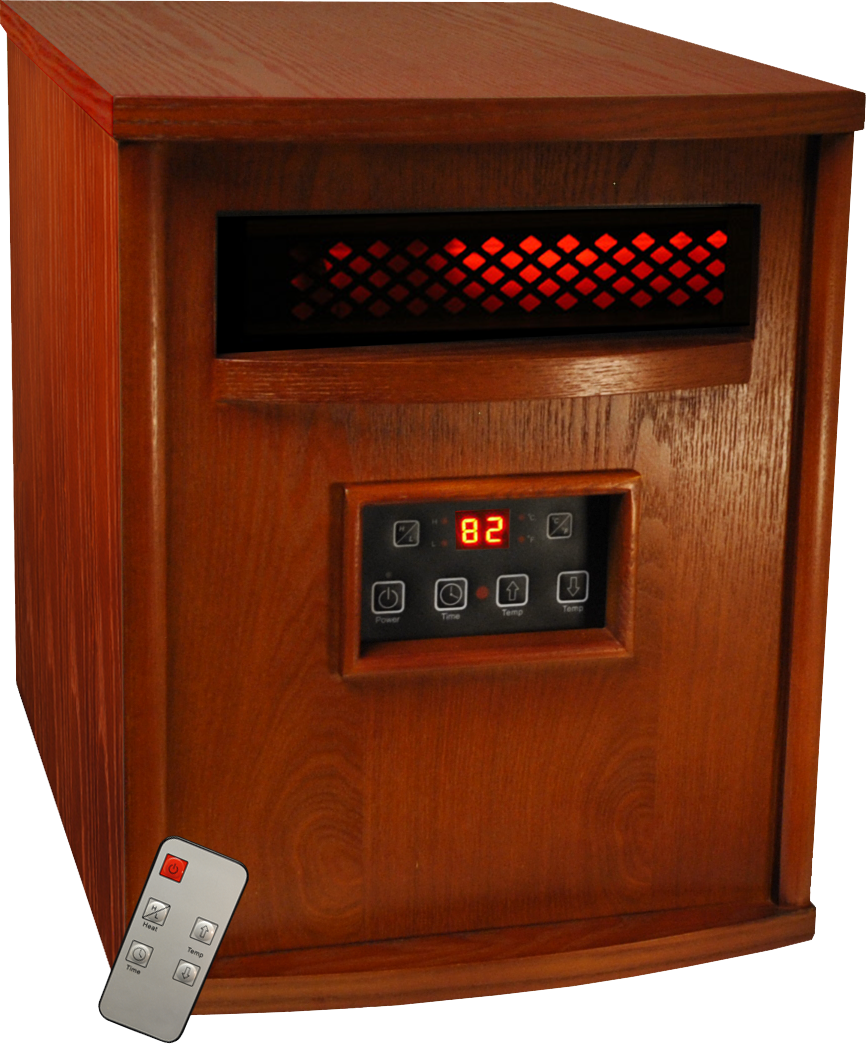 Thermal Wave by SUNHEAT TW1500 3 Year Warranty Infrared Heater with Remote Control - Cherry